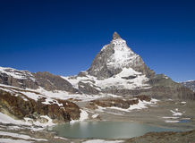 Matterhorn under the bright light of sunny day Stock Photos