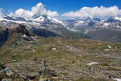Matterhorn, Valais, Svizzera Fotografia Stock