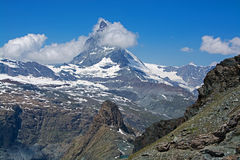 Matterhorn, Valais, Svizzera Fotografie Stock Libere da Diritti