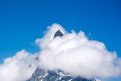 Matterhorn, Valais, Switzerland. Photo of the Matterhorn, the famous mountain in Switzerland. Visited in Summertime Royalty Free Stock Images