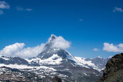 Matterhorn, Valais, Switzerland. Photo of the Matterhorn, the famous mountain in Switzerland. Visited in Summertime Royalty Free Stock Photography