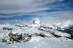 Matterhorn van Gornergrat Royalty-vrije Stock Foto's