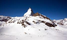 Matterhorn van kant Swizz Royalty-vrije Stock Foto