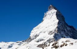 Matterhorn van kant Swizz Stock Afbeeldingen