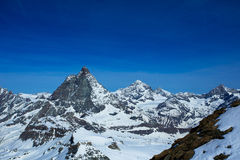 Matterhorn van Matterhorn-Gletsjerparadijs Stock Foto
