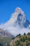 Matterhorn. View of Matterhorn from the center of Zermatt Stock Photography