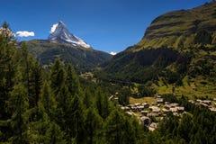 Matterhorn. View of Matterhorn Mt. at Zermatt ,Switzerland ,Switzerland Stock Image