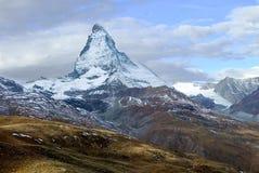 Matterhorn von Gornegrat Stockbild