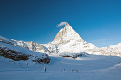 Matterhorn w ranku obrazy stock