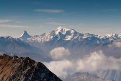 Matterhorn and Weisshorn. Mountain peaks, view from Eggishor, Wallis, Switzerland Stock Images