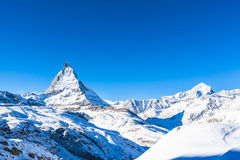 Matterhorn and Weisshorn Royalty Free Stock Photo