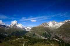 Matterhorn, a wide view Royalty Free Stock Image