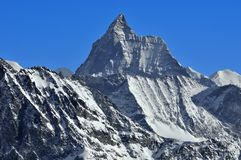 The Matterhorn in the winter Stock Photos
