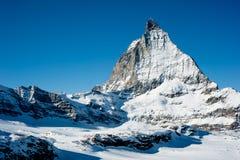 Matterhorn in Winter. View from Trockener Steg, Zermatt, Switzerland Stock Images