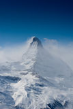 Matterhorn in winter Stock Photography