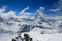 Matterhorn in winter Royalty Free Stock Photo
