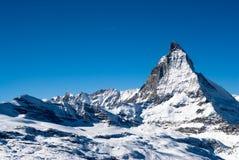 Matterhorn in winter Stock Photos