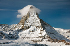 Matterhorn in winter Royalty Free Stock Photos