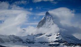 Matterhorn in wolken Stock Fotografie