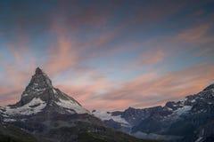 Matterhorn wschód słońca Zdjęcia Royalty Free