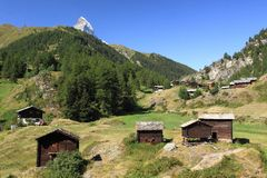 Matterhorn from Zermatt Stock Image