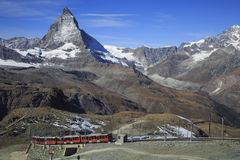 Matterhorn in Zermatt, Switzerland. Great Matterhorn in Gornergrat, Zermatt, Switzerland royalty free stock photos