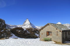 Matterhorn in Zermatt, Switzerland Stock Photos