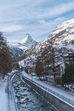 Matterhorn in Zermatt Wintertime mountain landscape Stock Photography
