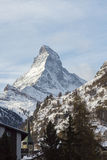 Matterhorn in Zermatt Wintertime mountain landscape Stock Photos