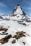 Matterhorn, Zermatt, Zwitserland Royalty-vrije Stock Foto's