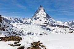 Matterhorn, Zermatt, Zwitserland Stock Foto