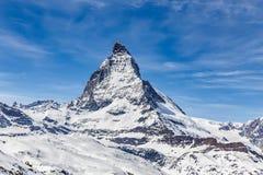 Matterhorn, Zermatt, Zwitserland Stock Foto's