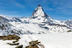 Matterhorn, Zermatt, Zwitserland Royalty-vrije Stock Afbeelding