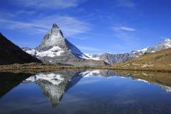 Matterhorn in Zermatt, Zwitserland stock foto's