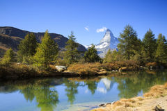 Matterhorn in Zermatt, Zwitserland Royalty-vrije Stock Fotografie