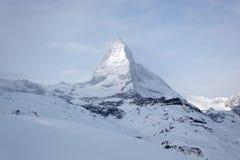 Matterhorn in Zwitserland Stock Foto