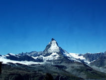 Matterhorn2. Digital photo of the Matterhorn. The Matterhorn is the 7th highest mountain of the Alps. It is 4478 meters high Royalty Free Stock Photo