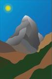 Matterhornberg met glanzende zon Stock Afbeeldingen