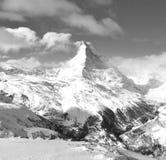 Matterhornen sammanlagt dess format royaltyfria foton