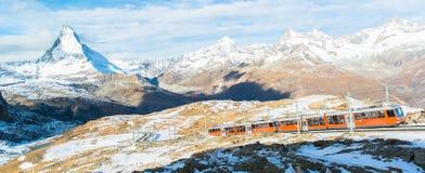 Matterhornpiek, Zermatt, Zwitserland stock fotografie