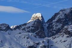 Matternhorn från Champoluc Royaltyfria Bilder