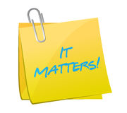 It matters post message illustration design Stock Images