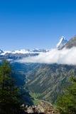 Mattertal and Matterhorn Stock Image