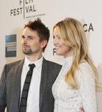 Matthew Bellamy y Kate Hudson Imagen de archivo libre de regalías