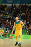 Matthew Dellavedova of Team Australia in action during group A basketball match of the Rio 2016 Olympic Games against team USA Stock Photography