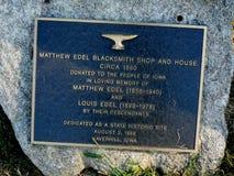 Matthew Edel Blacksmith Shop Signage στοκ φωτογραφίες