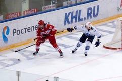 Matthew J Gilroy ( 97) contra Mikhail Fisenko ( 11) Imagem de Stock