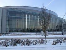 Matthew Knight Arena an der Universität von Oregon im Schnee, Eugene, Oregon stockbilder