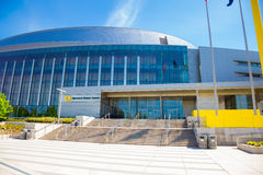 Matthew Knight Basketball Arena na universidade de Oregon imagem de stock