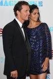 Matthew McConaughey και Camila McConaughey Στοκ Εικόνα